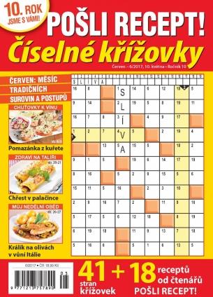 Pošli recept Číselné křížovky 6/2017