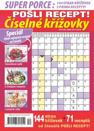 Pošli recept Superporce Číselné křížovky 4/2017