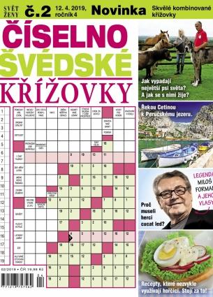 Svět ženy Číselno-Švédské křížovky 2/2019