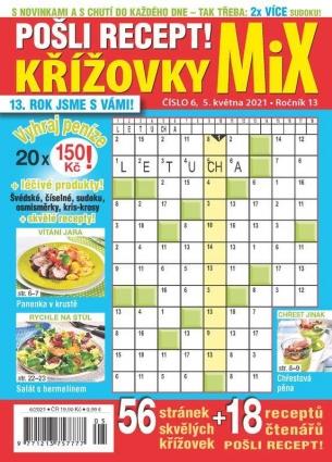 Pošli recept Křížovky MiX 6/2021