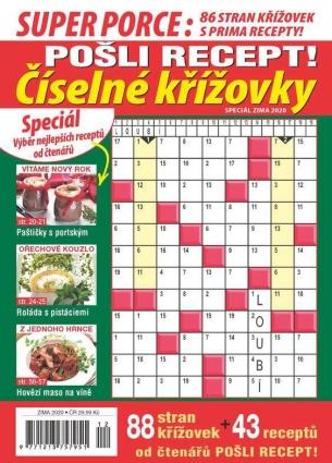Pošli recept Superporce Číselné křížovky 4/2020