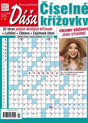 Dáša Číselné křížovky 8/2020