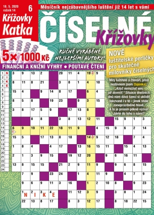 Katka Číselné křížovky 6/2020
