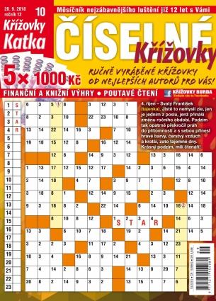Katka Číselné křížovky 10/2018