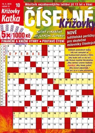 Katka Číselné křížovky 10/2019