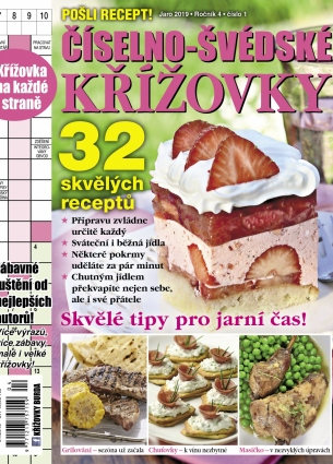 Pošli recept Číselno-Švédské křížovky 1/2019