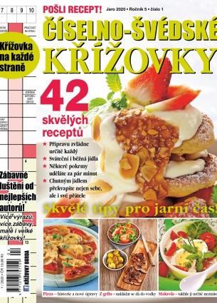 Pošli recept Číselno-Švédské křížovky 1/2020