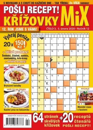 Pošli recept Křížovky MiX 3/2020