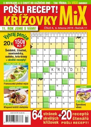 Pošli recept Křížovky MiX 4/2019