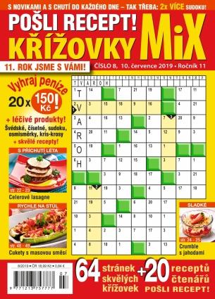 Pošli recept Křížovky MiX 8/2019