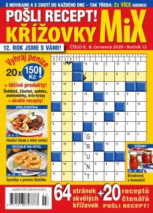 Pošli recept Křížovky MiX 8/2020