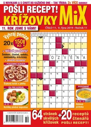 Pošli recept Křížovky MiX 11/2019