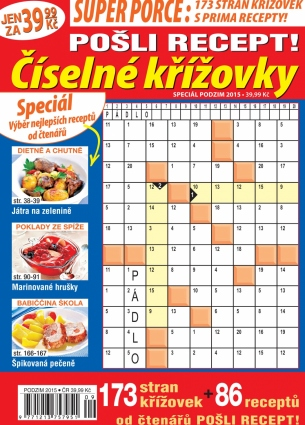 Pošli recept Superporce Číselné křížovky 3/2015