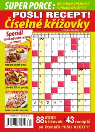 Pošli recept Superporce Číselné křížovky 3/2018