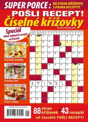 Pošli recept Superporce Číselné křížovky 3/2020