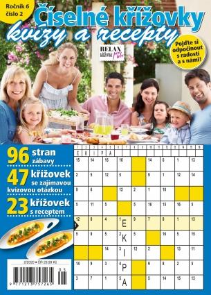 Relax křížovky - Číselné křížovky - Kvízy a recepty 2/2020