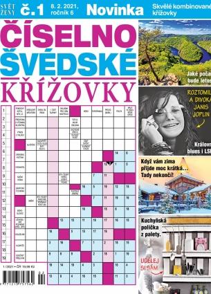 Svět ženy Číselno-Švédské křížovky 1/2021
